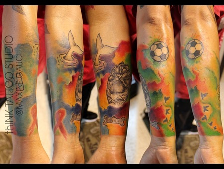 Half Sleeve In Full Colour/ Water Colour Color Arm