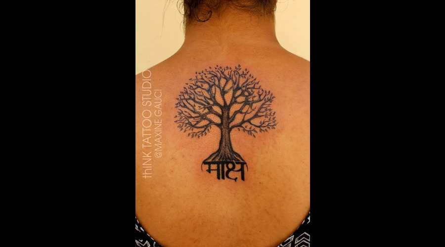 Tree Of Life Black Grey Back