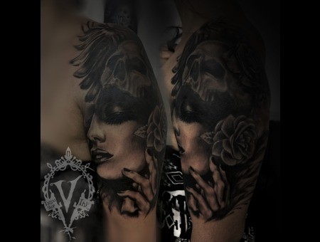 Cover Up Sholder  Arm Black Grey Shoulder