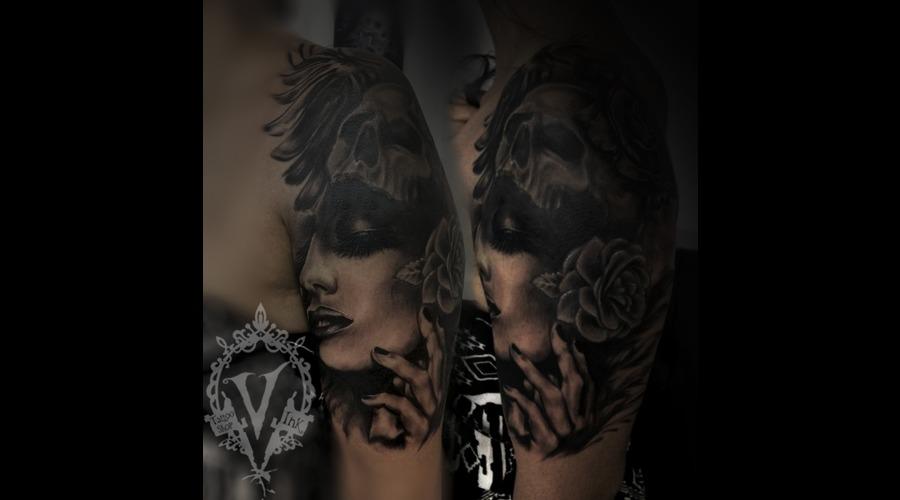 Cover Up Sholder  Arm Black Grey Shoulder