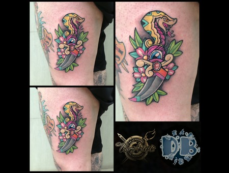 Traditional  Neotraditional  Color  Flash Color Thigh