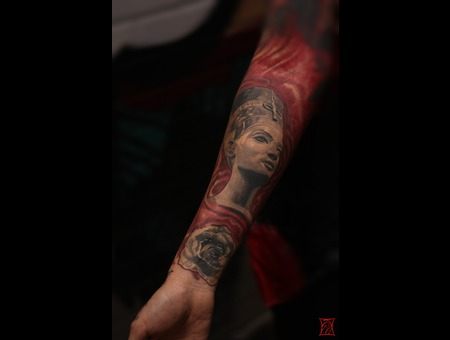 Gabor Zsil Montreal Tattooartist Color Arm