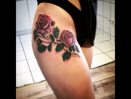 Rose  Colour  Realistic  Leg  Color Thigh
