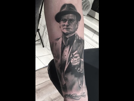 Mafia  Movie  Portrait Black Grey Forearm