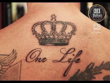 Erkan  Nehir  Tattoo  Artist  Dövmeci  Marmaris  Turkey Black Grey Back