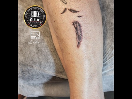 Erkan  Nehir  Tattoo  Artist  Dövmeci  Marmaris  Turkey Black Grey Lower Leg