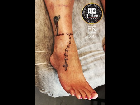 Erkan  Nehir  Tattoo  Artist  Dövmeci  Marmaris  Turkey Black Grey Foot