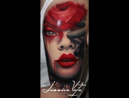 Woman  Clown  Rose  Eye Color Arm