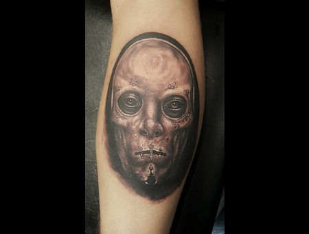 Mask Realism Black And Grey Black Grey Lower Leg