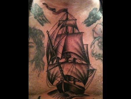 Ship Black White