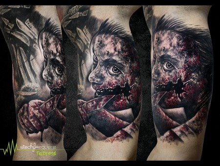 Horror  Gore  Nblood  Knife Black Grey Arm