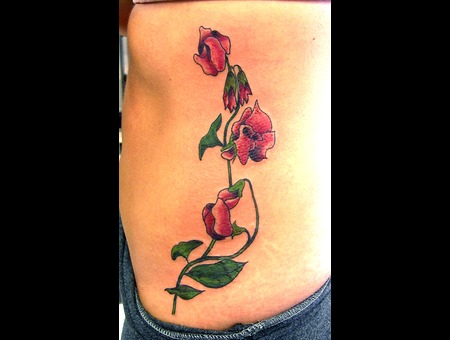 Flower  Flowers  Orchid  Lily  Rib Tattoo  Color Color