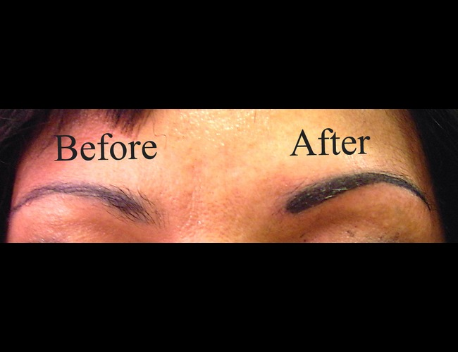 Cosmetic Tattoo  Eyebrows Black White