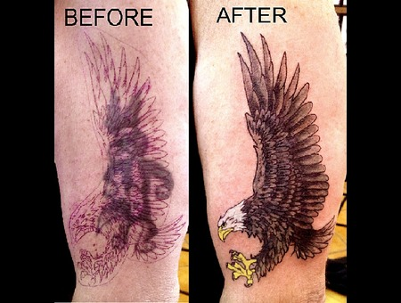 Cover Up  Eagle  Arm Tattoo Color Color