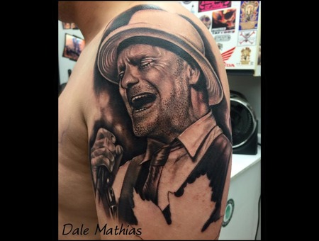 Gord Downie  Tragically Hip  Canadian  Realism  Portrait  Black And Grey Black Grey Arm