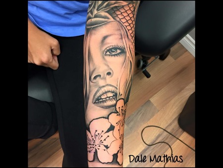 Portrait  Realism  Black And Grey Black Grey Forearm