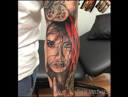 Realism  Portrait  Little Red Riding Hood Black Grey
