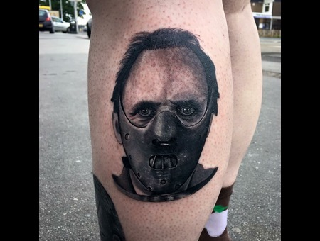Hannibal  Portrait  Realism  Blackandgrey Black Grey Lower Leg