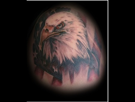 Eagle  Eagle Tattoo  Eagle Tattoo Design  Flag  Stars  Stripes  Patriotic Color Arm