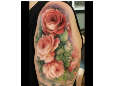 Watercolor  Color  Flowera  Roses   Floral Color Arm