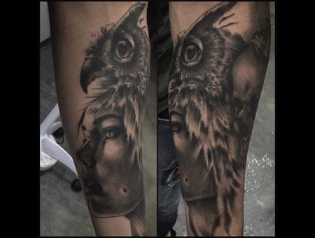 Realisticttattoo Tattoorealistic  Black Grey