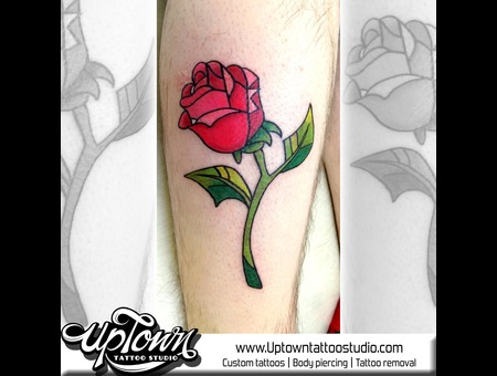 Neo Traditional  Rose  Colour Color Lower Leg