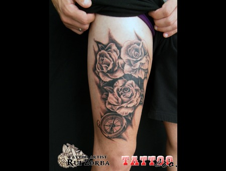 #Rosescompass Black Grey Thigh