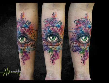 Eye  Geometry  Watercolor Color Arm