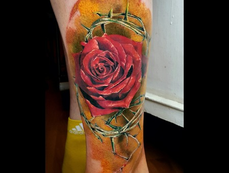 Realism Rose Aleksanderkuchumov84 Color Lower Leg