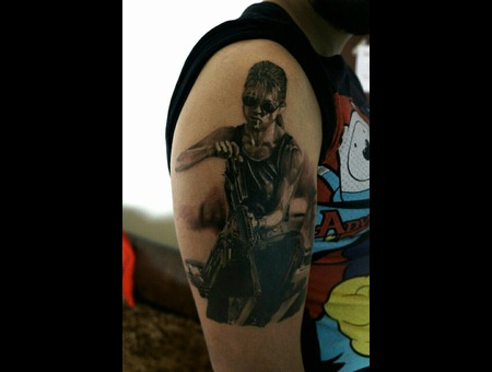 Films Terminator Saraconor Aleksanderkuchumov84 Realism Black Grey Arm