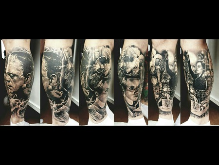 Frankenstein Realism Aleksanderkuchumov84 Black Grey Lower Leg