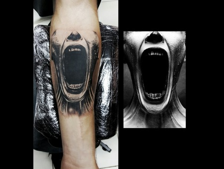 American Horror Story Tv Series  Black Grey Arm