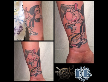 Cartoon  Flash  New School Color Forearm