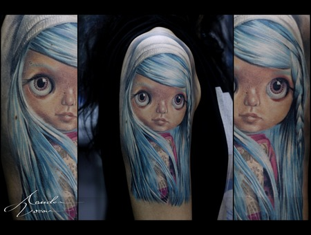 Healed  Blythe  Doll Color Shoulder