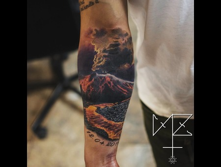 Volcano Color Forearm