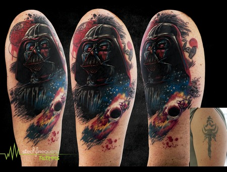 Coverup  Darth Vader  Star Wars  Space  Abstract  Realistic  Death Star   Color Arm