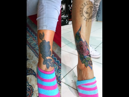 Before After Cover Up Color Foot