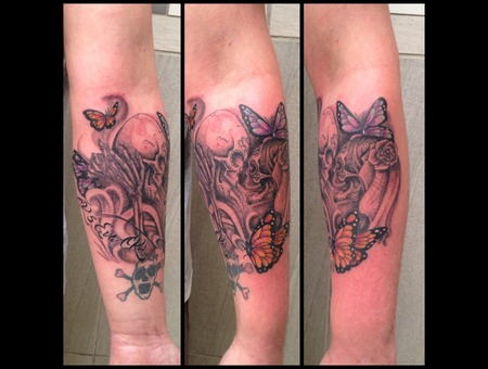 Black And Grey Black Grey Forearm