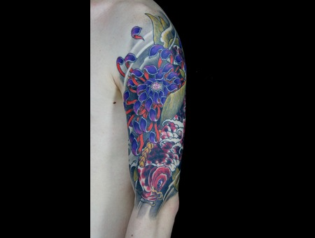 Koi Tattoo Color Japanese Hand Arm Color