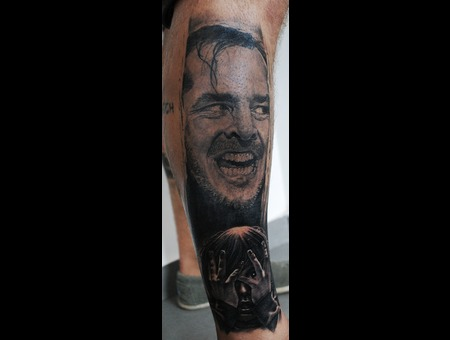 The Shining Portrait Realistic Black Grey Lower Leg