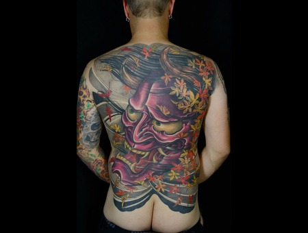 Hannya Back Color Tattoo Japanese Big Color