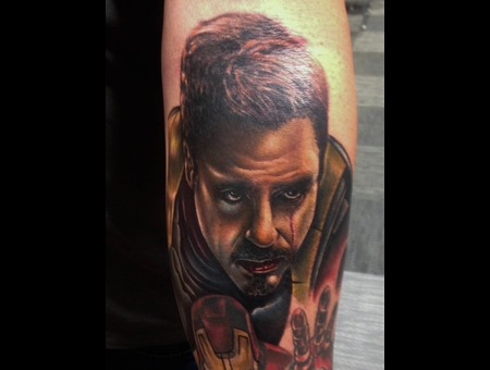 Marvel  Iron Man  Tony Stark  Color Portrait    Color Forearm