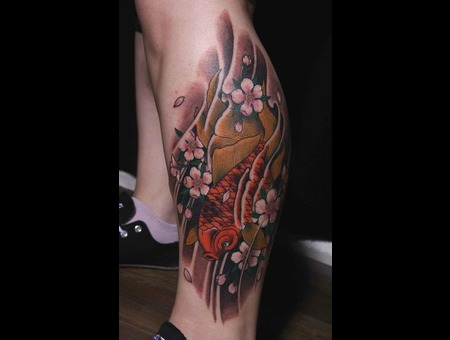 Koi Fish Japanese Tattoo Color  Color