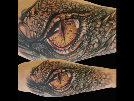 Dragoneye Realistic Colortattoo Hypperealism Color Forearm