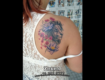 Lion Cherryblossoms Lotus Color Back
