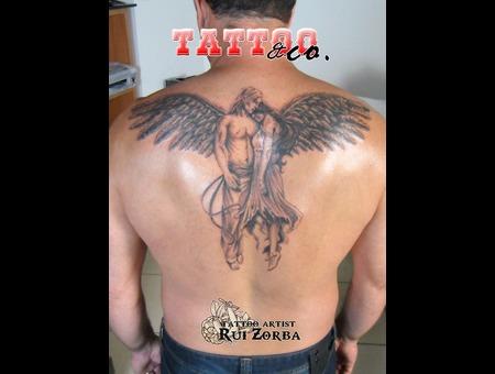 Big Couple Angel Wings Black Grey Back