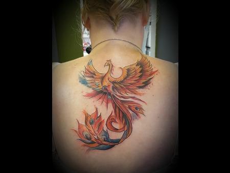 Phoenix  Watercolour  Color Back