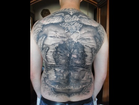 Back Piece Black White