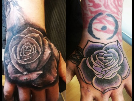 Rose Black Grey Forearm
