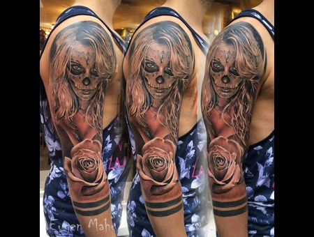 Tattoo  Realistic  Art  Rose   Color Arm
